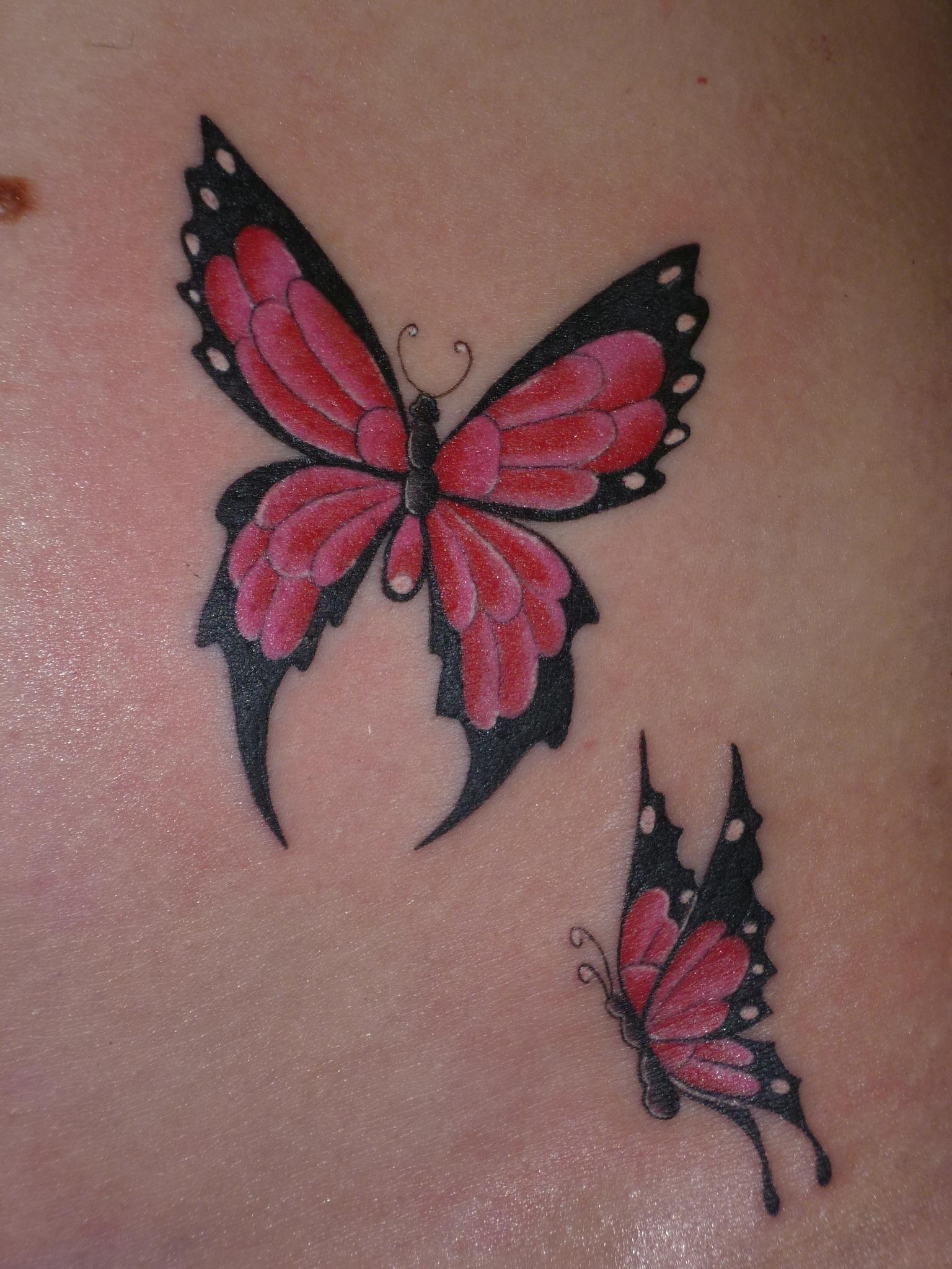 butterflies vlinder tattoo